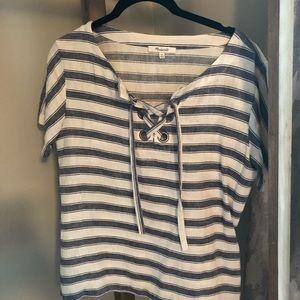 Madewell Linen Blend Striped Top